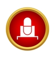 Retro microphone icon in simple style vector image