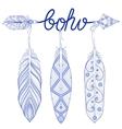 Blue Bohemian Arrow Amulet letters Boho with vector image