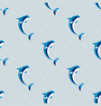 cute dolphins aquatic marine nature ocean seamless vector image