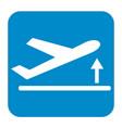 departure take off plane icon simple vector image