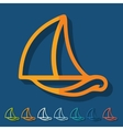 Flat design sailboat vector image