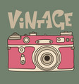 pink retro film camera icon flat vector image