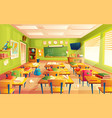 school classroom interior math training vector image