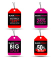 Tags Black Friday sale vector image