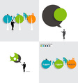 Modern infographics template style Bubble speech vector image