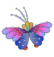 Butterfly colored gem rhinestones vector image