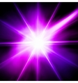 Light flare pink effect vector image