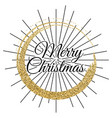 2018 gold and black card with merry christmas vector image