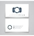 Business card template Camera conceptl logo vector image