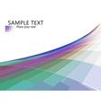 mosaic line wave effect vector image