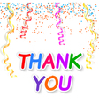 Thank you isolated on white background vector image vector image