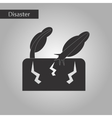 black and white style icon earthquake trees vector image