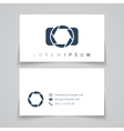 Business card template Camera conceptl logo vector image