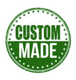 custom made sign or stamp vector image