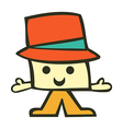 Funny cartoon male character vector image