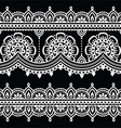 Mehndi Indian Henna white tattoo seamless pattern vector image