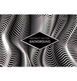Modern abstract background with silver shiny waves vector image