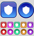 Shield Protection icon sign A set of twelve vector image