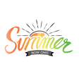 Summer Hand Lettering vector image