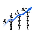 teamwork helps business growing up vector image