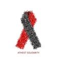 modern atheist solidarity circles desigen vector image