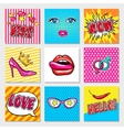 Fashion Pop Art Cards vector image