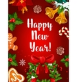 Happy New Year holidays poster vector image