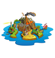 Wonder island vector image vector image
