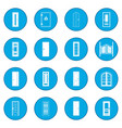 doors icon blue vector image