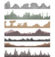 seamless landscape grounds for game ui vector image