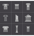 black column icons set vector image vector image
