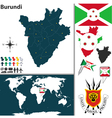 Burundi map world vector image