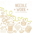 Needle work vector image vector image