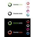 design element rings vector image vector image