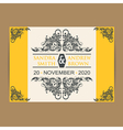 Wedding invitation yellow vector image vector image