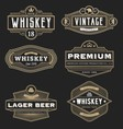 Vintage frame design for labels banner logo emblem vector image