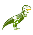 Dinosaur skeleton Bone up on my body T-Rex and vector image