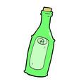 comic cartoon message in bottle vector image