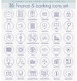 finance outline icon set Elegant thin line vector image