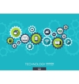 Technology mechanism concept Abstract background vector image vector image