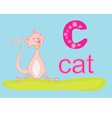 Animal alphabet C with cat vector image