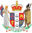 New Zealand Coat-of-Arms vector image vector image
