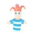 Jester doll icon in cartoon style vector image