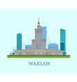 Warsaw business center vector image