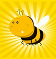 cartoon funny bee vector image