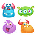 cute cartoon monsters collection vector image