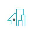 house building line company logo vector image