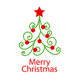 logo decorative Christmas tree vector image