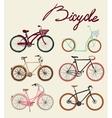Vintage bicycle Set vector image