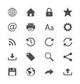Web flat icons vector image